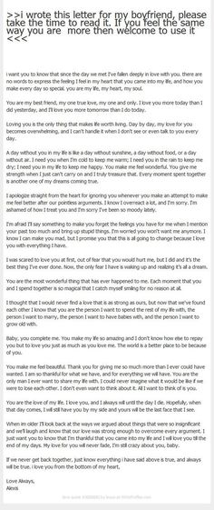 Cute Letters To Write To Your Boyfriend - Google Search | Hmm