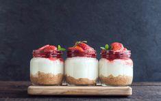 No Bake Strawberry Cheesecake Jars