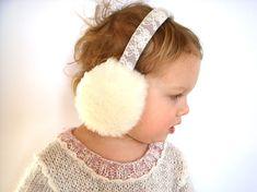 Japan Sakura Drawing Sketch Winter Earmuffs Ear Warmers Faux Fur Foldable Plush Outdoor Gift