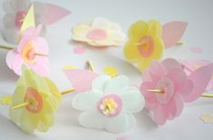 Candy flowers, paperflowers papercraft, paperart, paperflowers
