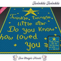 Twinkle, Twinkle (sc tss c2c cross stitch) | Craftsy
