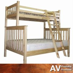 Stunning #solidwood stacked bunker beds will fit perfectly in any kids or guest room. Come to AV Produkte / AV Products for our wide range of #wooden furniture! #furniture