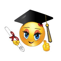 When congratulations are in order for a happy graduate, you can share this smiley. / This is in honor of my Granddaughter ~ Ciana ~ Class of You go girl & God Bless! Smiley Emoji, Smiley Emoticon, Happy Smiley Face, Smiley Faces, Funny Emoji Faces, Funny Emoticons, Emoji Love, Cute Emoji, Emoji Craft