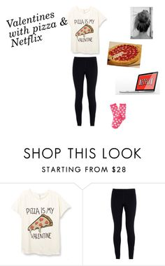 """""""Valentines with pizza & Netflix"""" by xtroyexconnorx ❤ liked on Polyvore featuring NIKE, Aéropostale, pizza, valentine and netflix"""