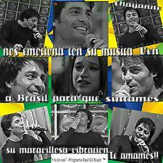 Fotos de 2002 quando Chayanne veio no Brasil, no programa de Raul Gil.