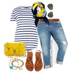 Plus Size - Summer Yellow, created by alexawebb on Polyvore