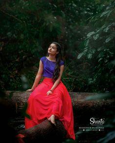 Long Skirt Top Designs, Long Skirt And Top, Indian Long Hair Braid, Braids For Long Hair, Girl Photo Poses, Girl Photos, Anklet Designs, Indian Photoshoot, Dance Poses