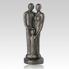 The Three of Us Art Sculpture is the perfect memorial celebration. Celebration of a life is a wonderful, warm and loving sculpture. Just a great memorial gift and some of our customers use them with the urn they purchase and put the sculpture on top or right beside the urn. Each piece is signed by the artist himself and will bring a warm touch. A special moment in life is captured here.