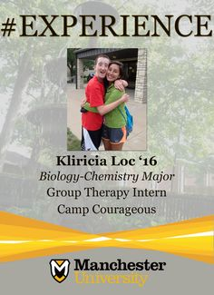 Kliricia Loc '16 is building #experience as a Group Therapy Intern at Camp Courageous.