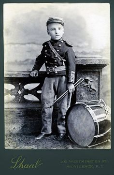 +~+~ Antique Photograph ~+~+ Drummer Boy It surprises me how many children fought in the civil war.