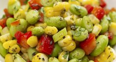 Made this last night we fresh herbs.  Lovely, light summer side.  Edamame and Corn Salad with Oregano Vinaigrette
