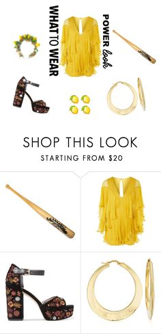 """Halloween Inspired: Beyonce Lemonade"" by avo33avo ❤ liked on Polyvore featuring Topshop, Sam Edelman and Ross-Simons"