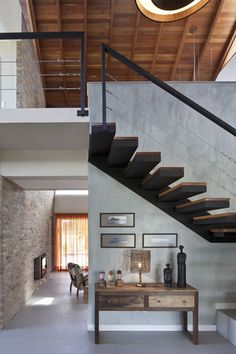 nicely crafted interior stairs