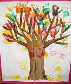 A Fall classroom tree...great bulletin board idea for right outside the classroom.