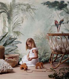 papier peint jungle chambre enfant decoration