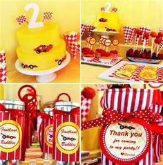 Stylish Childrens Parties: Race Car Birthday Party