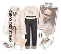 """""""Chic Oversized Coat for Spring 2017"""" by ragnh-mjos ❤ liked on Polyvore featuring STELLA McCARTNEY, Michael Kors, Marni, Jimmy Choo, Givenchy, Roger Vivier, Maison Boinet, Loro Piana and Etro"""