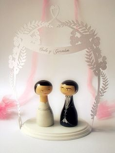 SHIPS FEBRUARY 2nd  Cake Topper  Custom Wedding by zime on Etsy, $72.00