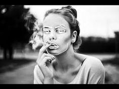 Smoke, portrait of a girl smoking, in black and white, by VideoCoco More art and photos from deviantart. Illustration, Girl Smoking, Smoking Room, Women Smoking, Photos, Pictures, Woman Face, Collage Art, Album Covers