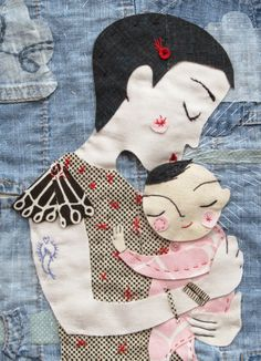 * My Sweet Angel by Lisa Stubbs of 'Lil Sonny Sky' for the Umbrella Prints Trimmings Competition 2014; made from one packet of Umbrella Prints fabric Trimmings www.umbrellaprints.bigcartel.com
