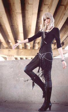Damen Punk Gothic Top Blumen Langarm U-Boot-Ausschnitt Steampunk Shirt SD