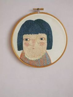Melinda - Embroidery art work - Hand embroidered portrait