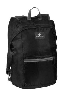 Eagle Creek Packable Daypack, Black Eagle Creek. $27.50. Dimensions 9.5-Inch x 16.5-Inch x 4.5-Inch. Breathable mesh shoulder straps, key fob. Pack-in pocket doubles as a front pocket. Zippered main compartment, lightweight compact packable day pack from eagle creek