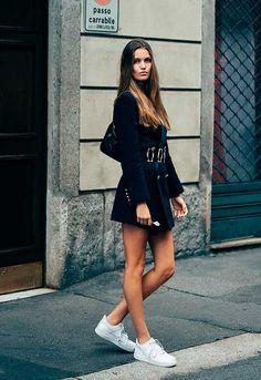 Con zapatos de tendencia o 'sneakers' básicas, estos vestidos quedan bien con cualquier calzado - Foto
