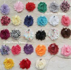 You Pick 5 Mini Shabby Chic Baby Headband Set..... Baby Headbands - Baby Shower Gift - Baby Girl Headbands - Baby Bows Headband.. $21.95, via Etsy.