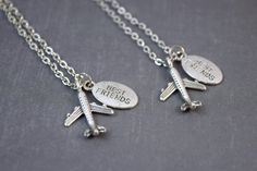 Airplane  Friendship Necklaces  Travel  Plane  Long by DoodieBear