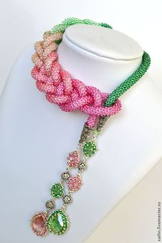 "Inspiration on a new way to wear my ""scarf bead"" necklaces"