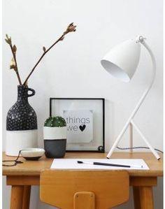 Scandinavische tafellamp Bronq Elin wit