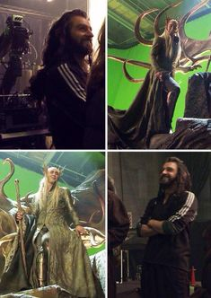 The Hobbit : the Desolation of Smaug behind the scenes BTS - Richard Armitage  (Thorin) and Lee Pace (Thranduil)