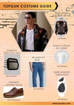 Top Gun Costume Guide!! Tom Cruise as #Maverick wore this Stylish Top Gun Jacket in Top Gun movie. Now on Sale for #Comiccon at #Georgia.