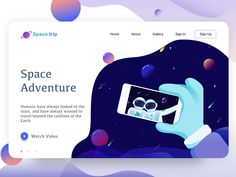 landing page | space adventure