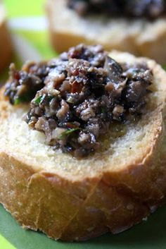 The 99 Cent Chef: Black Olive Tapenade with Crostinis - Appetizer