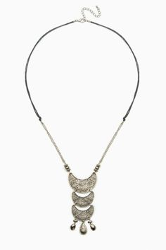 Great Canyon Necklace / ShopSosie #cresent #shaped #pendant #tribal #inspired #necklace #accessories #shopsosie