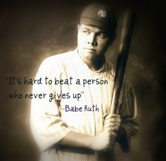 Its hard to beat a person that never gives up -Babe Ruth #Spectrumlearn #quotes & #notes