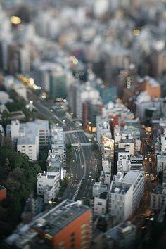 Japan Tilt Shift Photography, Types Of Photography, Urban Photography, Aerial Photography, Film Photography, Street Photography, Tilt Shift Photos, Optical Illusion Paintings, Isometric Art