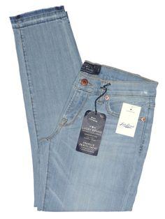 NEW Lucky Brand Womens Jeans CHARLIE Skinny Leg Denim Cropped Capris Blue 28 $99 #LuckyBrand #SlimSkinny