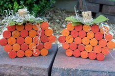 Festive Fall Wine Cork Pumpkin by BonusMomBoutique on Etsy