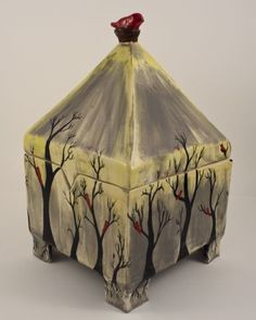 Misty Day Pyramid Box - 2014 Featured Artist Pieces - Gallery - Ceramic Arts Daily Community