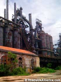 The remains of Bethlehem Steel Works in Bethlehem, Pa
