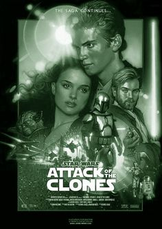 STAR WARS: Episode II: ATTACK OF THE CLONES is het tweede, maar als vijfde gemaakte deel uit de Star Warssaga. Deze Amerikaanse film werd gemaakt in 2002, en geregisseerd door George Lucas naar een eigen scenario. Met o.a. de acteurs Ewan McGregor, Natalie Portman, Samuel L. Jackson en Christopher Lee.