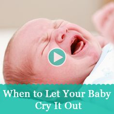 Soothe baby or let him/her cry it out? Watch how to make sleep training easier on both you and your baby. Sleep Training Methods, Training Tips, Cry It Out, Sleeping Alone, Mixed Babies, Everything Baby, Baby Hacks, Baby Sleep, Toddler Sleep