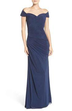 La Femme Ruched Gown