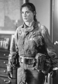 Demi Moore in G.I. Jane Proof that even hardbodied, beautiful women look like big-thighed hausfraus in a combat uniform.