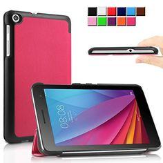 cool Infiland Huawei MediaPad T1-701W Funda Case-Ultra Delgada Tri-Fold Case Cover PU Cuero Cascara con Soporte para Huawei MediaPad T1-701W 8GB (7.0 pulgadas) Tablet-PC