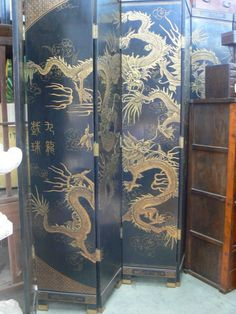 chinese screen antique furniture oriental