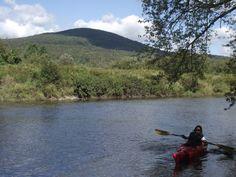 Kayak sur la rivière Missisquoi à Glenn Sutton